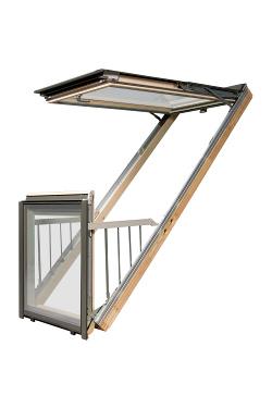 fen tre balcon galeria fakro. Black Bedroom Furniture Sets. Home Design Ideas
